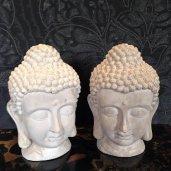 Buddha fej fehér 26cm